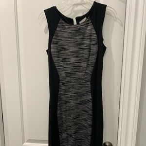 Black and Grey fitted dress